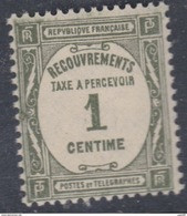 France Taxe N° 55  XX  Taxe à Percevoir : 1 C. Olive, Sans Charnière,  TB - 1859-1955 Neufs