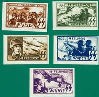 1943 NAZI Germany Belgium Legion Unissued Set Not Dentelee MNH*** - Ocupación 1938 – 45