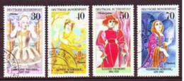 1976. BRD.  Famous German Actresses. Used. Mi. Nr. 908-11. - Usados