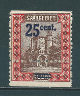 Saar MiNr. 75 * Stark Verzähnt, Geprüft Ney BPP  (sab01) - Unused Stamps