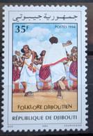Djibouti, 1994, Mi 607, Folklore-dance, 1v, MNH - Danza