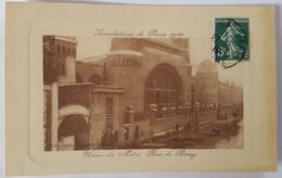 Carte Postale Inondations De Paris 1910 Usine Du Métro Rue De Berey - De Overstroming Van 1910