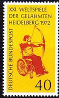 BRD FGR RFA - Weltspiele Der Gelähmten Bogenschütze (MiNr: 733) 1972 - Postfrisch MNH - Nuevos