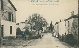 33 BASSANE / Rue De L'Eglise / CARTE ANIMEE - Altri Comuni