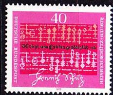 BRD FGR RFA - Heinrich Schütz (MiNr: 741) 1972 - Postfrisch MNH - Nuevos