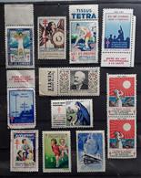 France, Lot De 12 Vignettes ANTITUBERCULEUX Dont Union Française Pub Lait NESTLE,Tissus TETRA,1927- 1964 Neuves */** TB - Antituberculeux