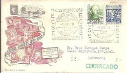 MATASELLOS 1950   MADRID CERTIFICADO - 1931-50 Cartas