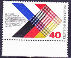 BRD FGR RFA - Deutsch-französische Zusammenarbeit (MiNr: 753) 1973 - Postfrisch MNH - Nuevos