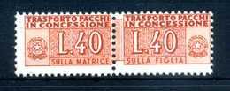 1953 REP. IT. PACCHI CONCESSIONE N.1 MNH ** RUOTA ALATA - Pacchi In Concessione