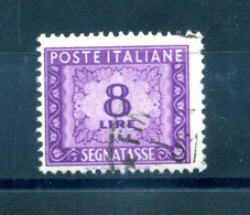 1947-54 ITALIA SEGNATASSE N.103 8 Lire USATO - Postage Due