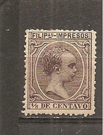 Filipinas - Edifil  79 - Yvert Sello Para Impresos 8  (MH/*) - Philippinen