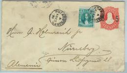 94001  - ARGENTINA - POSTAL HISTORY - STATIONERY COVER Jalil # Sob 27 Germany - Ganzsachen