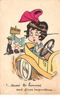 Illustrateur - N°63272 - Aussi Les Hommes Sont D'une Imprudence ... - Femme Au Volant écransant Un Homme En Voiture - Otros Ilustradores