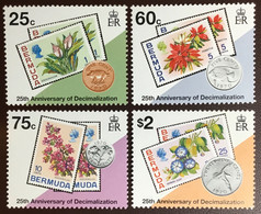 Bermuda 1995 Decimal Currency Flowers MNH - Bermuda