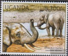 Uganda 2814 (complete Issue) Unmounted Mint / Never Hinged 2012 Savannenelefant - Uganda (1962-...)