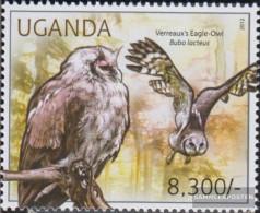 Uganda 2799 (complete Issue) Unmounted Mint / Never Hinged 2012 Owls - Uganda (1962-...)