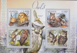 Uganda 2795-2798 Sheetlet (complete Issue) Unmounted Mint / Never Hinged 2012 Owls - Uganda (1962-...)