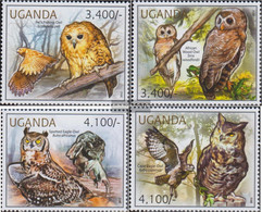 Uganda 2795-2798 (complete Issue) Unmounted Mint / Never Hinged 2012 Owls - Uganda (1962-...)