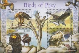 Uganda 2790-2793 Sheetlet (complete Issue) Unmounted Mint / Never Hinged 2012 Birds Of Prey - Uganda (1962-...)