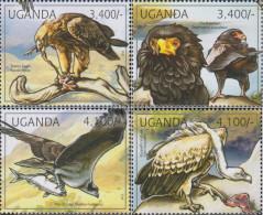 Uganda 2790-2793 (complete Issue) Unmounted Mint / Never Hinged 2012 Birds Of Prey - Uganda (1962-...)