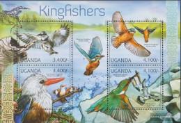 Uganda 2785-2788 Sheetlet (complete Issue) Unmounted Mint / Never Hinged 2012 Kingfisher - Uganda (1962-...)
