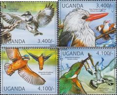 Uganda 2785-2788 (complete Issue) Unmounted Mint / Never Hinged 2012 Kingfisher - Uganda (1962-...)