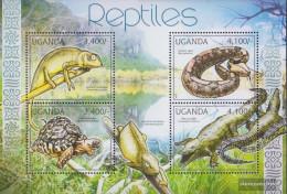Uganda 2780-2783 Sheetlet (complete Issue) Unmounted Mint / Never Hinged 2012 Reptiles - Uganda (1962-...)