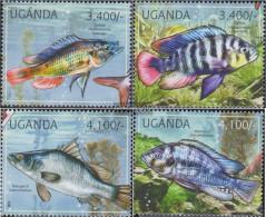 Uganda 2775-2778 (complete Issue) Unmounted Mint / Never Hinged 2012 Freshwater Fish - Uganda (1962-...)