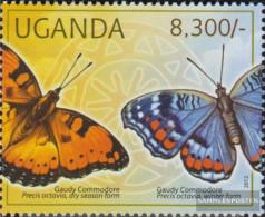 Uganda 2774 (complete Issue) Unmounted Mint / Never Hinged 2012 Butterflies - Uganda (1962-...)