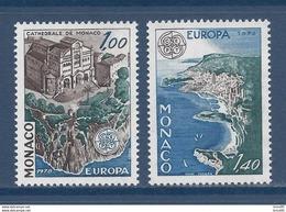 ⭐ Monaco - YT N° 1139 Et 1140 - Neuf Sans Charnière - 1978 ⭐ - Ungebraucht