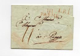 !!! DEPARTEMENT CONQUIS, 111 TARO, MARQUE DE PARME SUR LETTRE DE 1812 SANS TEXTE - 1792-1815: Dipartimenti Conquistati