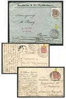 62111 Russia LITHUANIA Lietuva RAILWAY TPO #3 SPb-Vilno, #6 Verzhbolovo-Vilno, #9 Dvinsk-Radziwiliszki Cancel Card Cover - Storia Postale