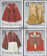 Yugoslavia 3000-3003 (complete Issue) Unmounted Mint / Never Hinged 2000 Serbian Costumes - Ungebraucht