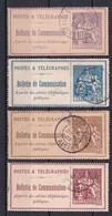 TELEPHONES - 1900/1906 - YVERT N°22+24+25+26 OBLITERES En ALGERIE !  - COTE = 31 EUR. - - Télégraphes Et Téléphones
