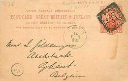 UK. CP P 26 (Mi) Blackheath S.O./S.E. > Gent 13/2/97  Sq. C. LS/002  I D-I CT - Postmark Collection