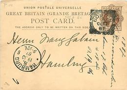 UK. CP P 14 (Mi) Boston > Hamburg  17/10/87  Sq. C. B/376 1st I SC - Postmark Collection