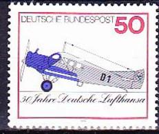 BRD FGR RFA - 50 Jahre Deutsche Lufthansa (MiNr: 878) 1976 - Postfrisch MNH - Nuevos