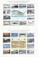 España 1992 Serie Completa De Dos Mini Pliegos 24 Valores Exposición Universal De Sevilla Expo 92 - Blocs & Hojas