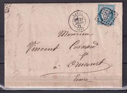 D 126 / CERES N° 37 SUR  LETTRE - 1870 Besetzung Von Paris
