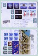 Lettre Recommandée Egypte -> France Affranchissement Recto Verso Voir Scan - Cartas