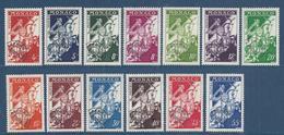 ⭐ Monaco - Préoblitéré - YT N° 11 à 18 - Neuf Sans Charnière - 1954 à 1959 ⭐ - Preobliterati