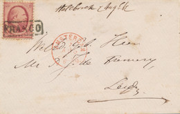 Nederlands Indië - 1867 - 10 Cent Willem III, 2e Emissie Op Cover Van Amsterdam Naar Leiden - Briefe U. Dokumente