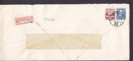 Denmark SKANDINAVISK KUNSTSILKE IMPORT Registered Einschreiben Label Brotype Vd KØBENHAVN 10. (*3), 1946 Cover Brief - Briefe U. Dokumente