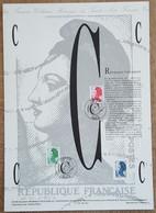 COLLECTION HISTORIQUE - YT Nº2615, 2616 - LIBERTE - 1990 - 1990-1999