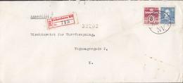 Denmark E. SOMMEX Registered Einschreiben Label Brotype Vd KØBENHAVN NV. (*1), 1946 Cover Brief - Briefe U. Dokumente