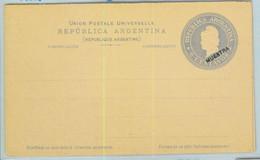 94013 - ARGENTINA - POSTAL HISTORY - STATIONERY COVER Jalil # Tar 20 SPECIMEN - Ganzsachen
