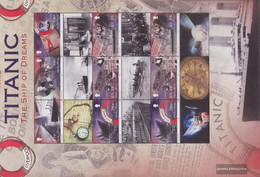 United Kingdom - Isle Of Man 1762-1767 Sheetlet (complete Issue) Unmounted Mint / Never Hinged 2012 Downfall The Titanic - Isola Di Man