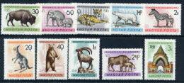 HUNGARY 1961  Budapest Zoo Set MNH / **.  Michel 1727-36 - Ongebruikt
