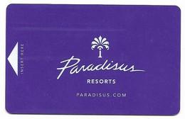 Paradisus Resorts, Mexico, Costa Rica, Dominican Rep., Used Magnetic Hotel Room Key Card # Paradisus-1 - Cartas De Hotels