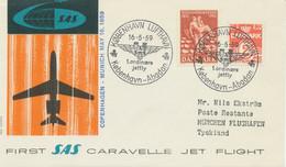 """DENMARK 1959, First Flight SAS First Caravelle Jet Flight """"COPENHAGEN - MUNICH"""" - Aéreo"""